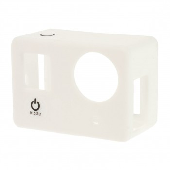 Silicone Case Wit voor GoPro Hero 3/3+ met LCD BacPac