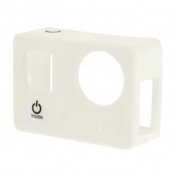 Silicone Case Wit voor GoPro Hero 3/3+ zonder LCD BacPac