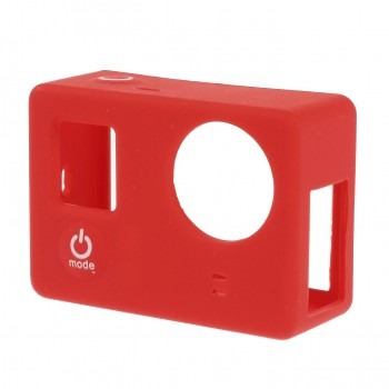 Silicone Case Rood voor GoPro Hero 3/3+ zonder LCD BacPac