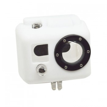 Soft Silicone Case Wit voor GoPro Hero 2